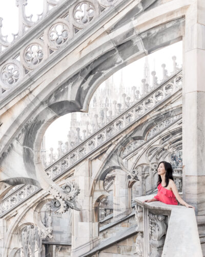 The Duomo Rooftop Terrace in Milan Italy