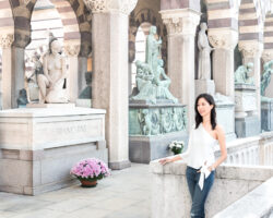 The Beautiful Monumental Cemetery (Cimitero Monumentale) in Milan Italy