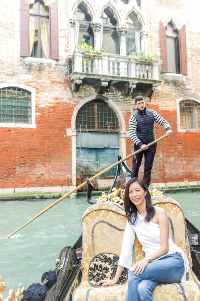 Gondola ride along the Grand Canal in Venice, Italy
