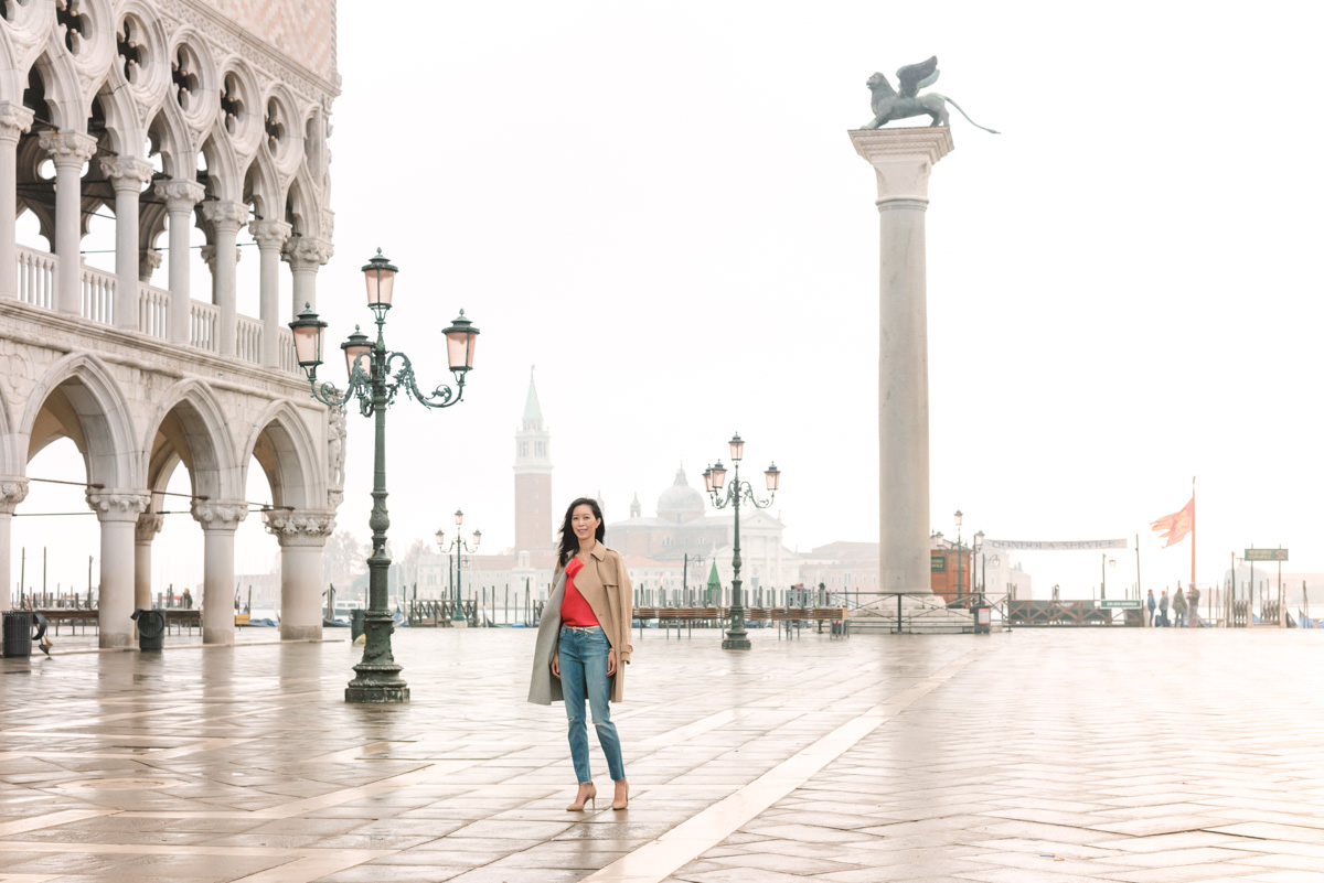 Morning at St Mark's Square in Venice, Italy