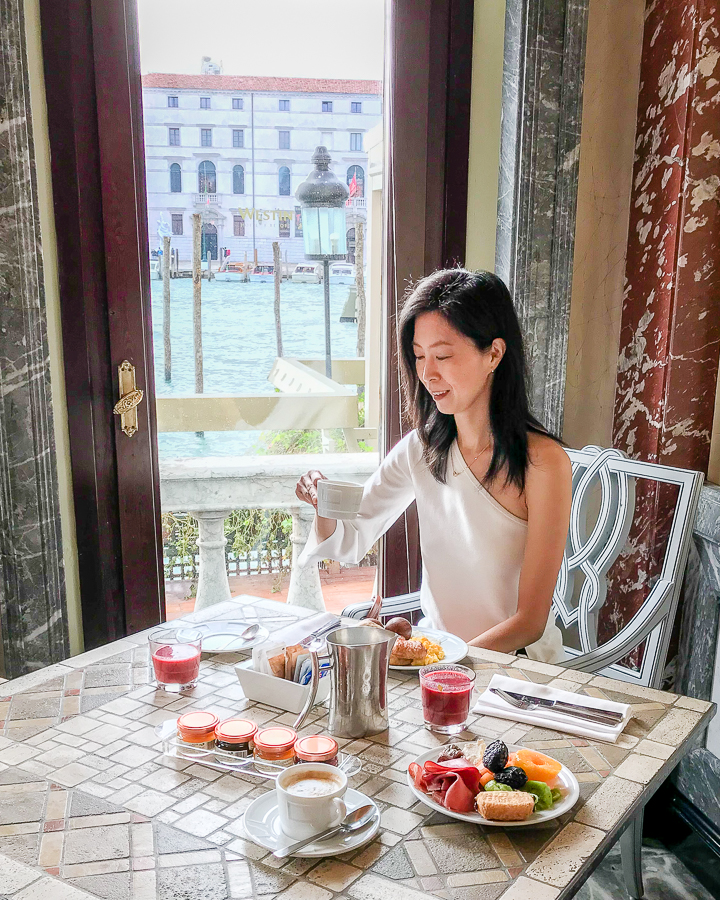 Breakfast in Venice Overlooking Grand Canal