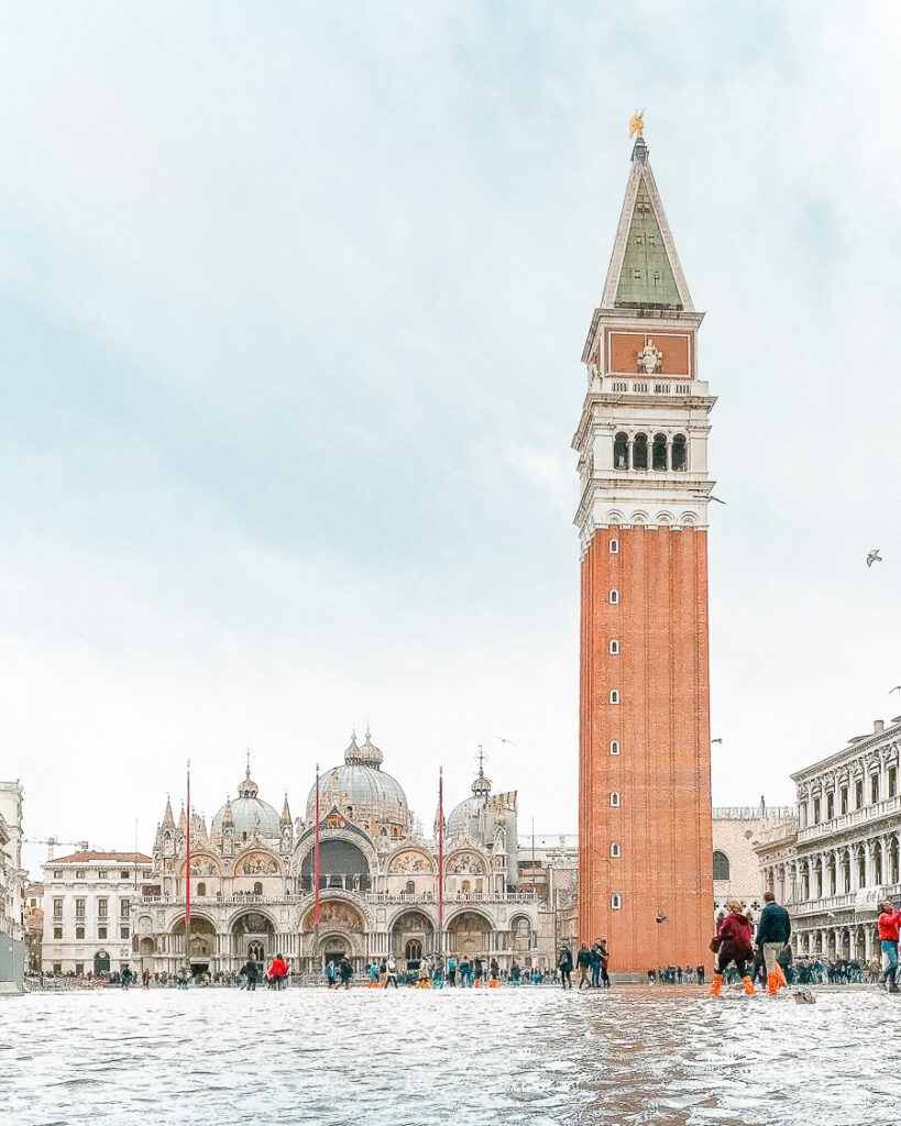 Venice Saint Marks Square Piazza San Marco Flooded
