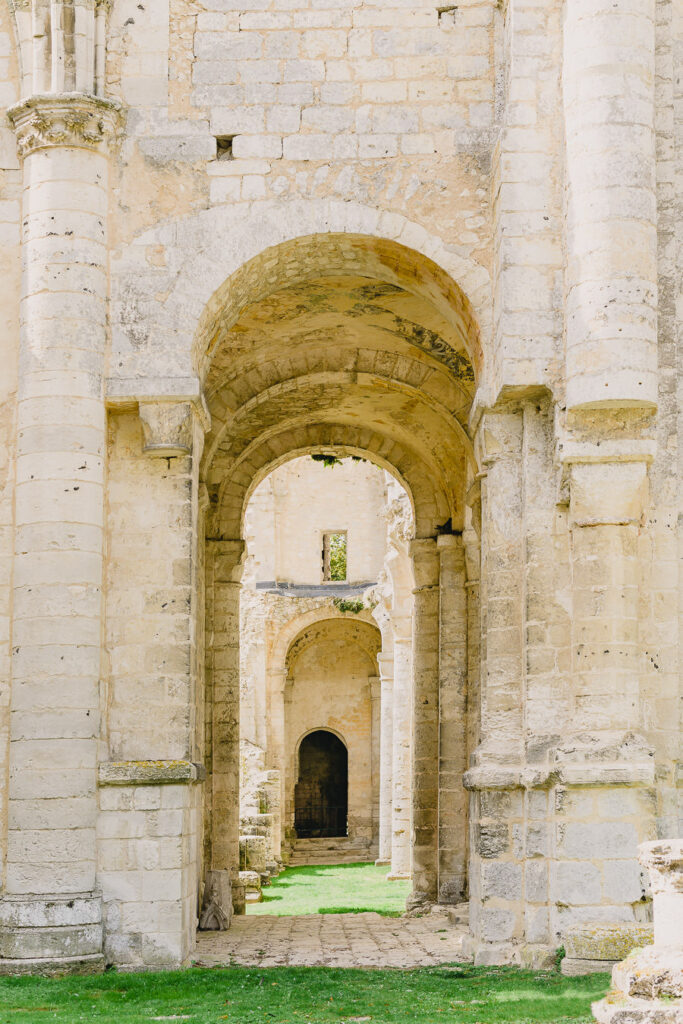 Arched Passageway in Jumieges Abbey in Normandy France