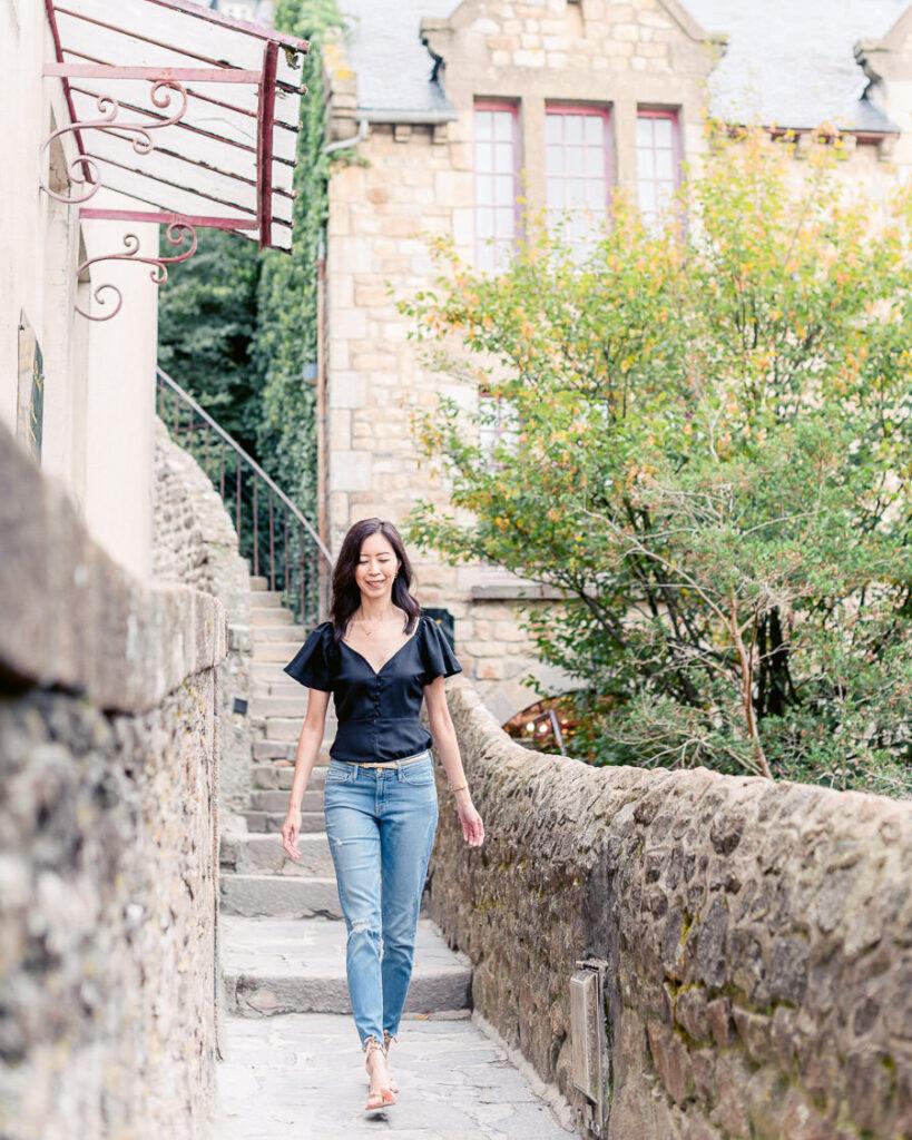 Mont St Michel terrace walk