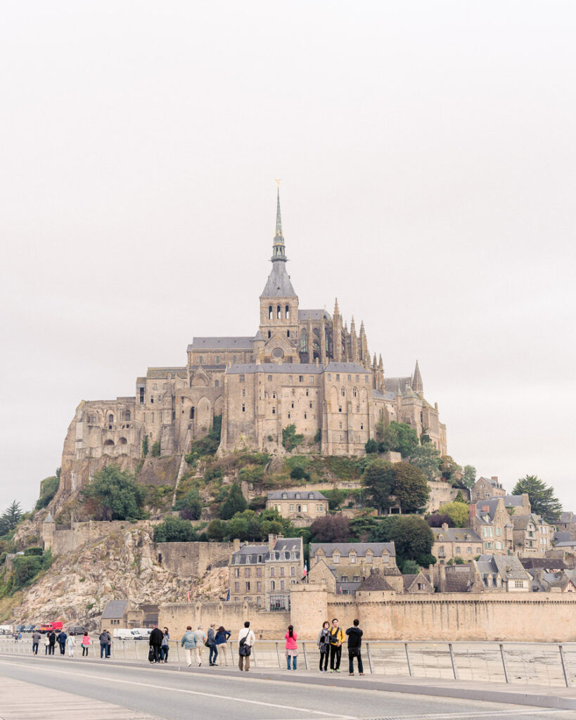 View of Mont Saint Michel Abbey from Causeway