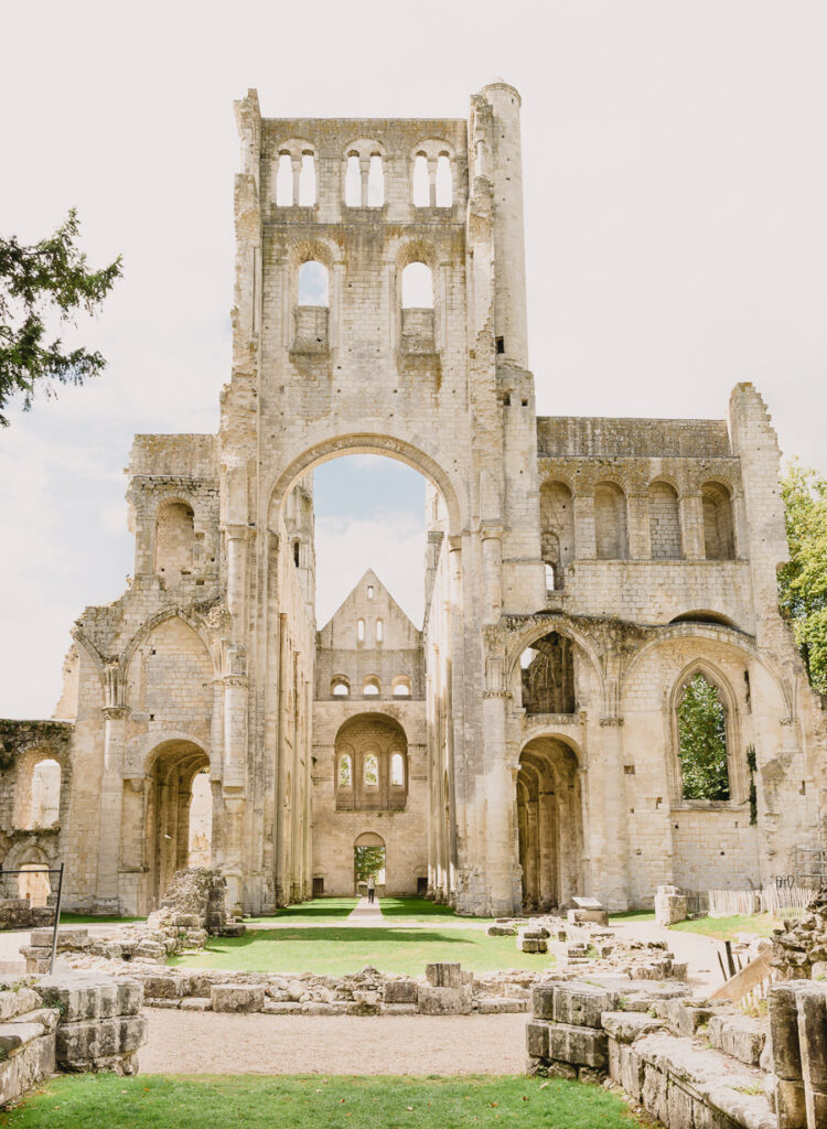 The Facade of the Ruins of the Jumieges Abbey