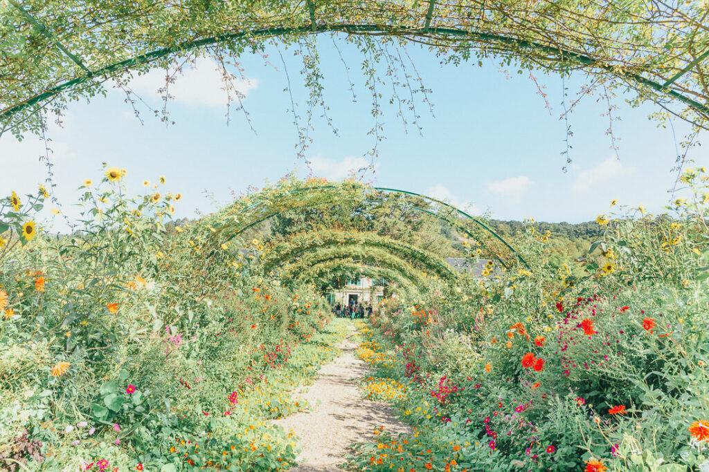Flower arch at Monet's Garden