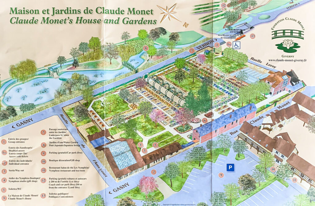 Map of Monet's Garden