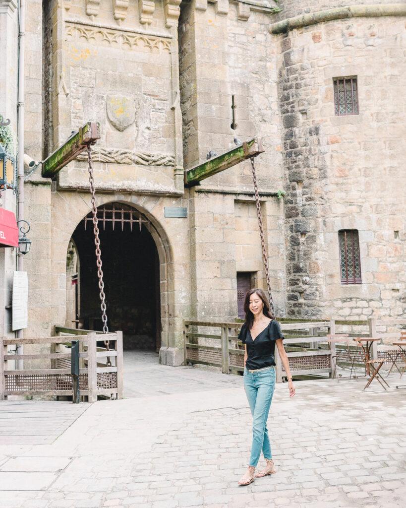 Outside Mont Saint Michel Abbey Drawbridge