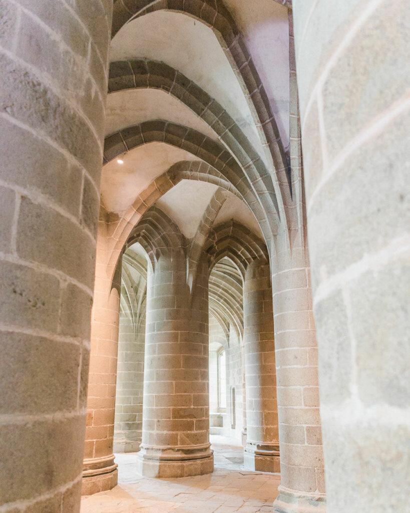 Inside the Mont Saint Michel Abbey