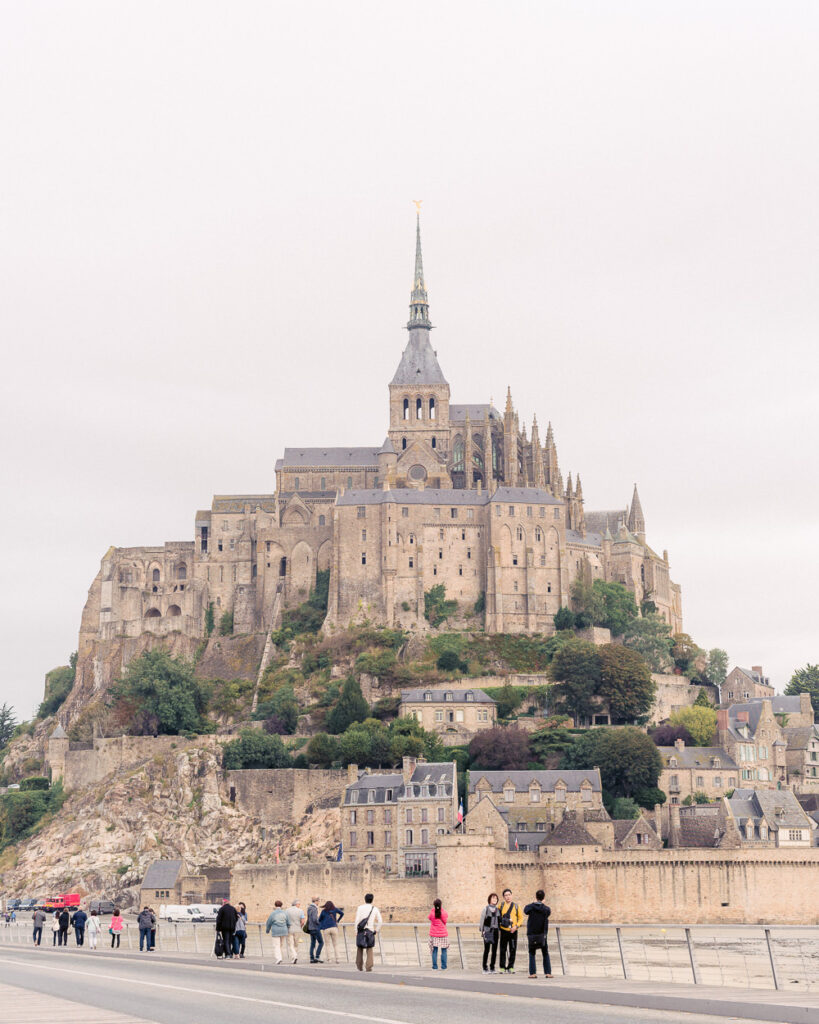 View of Mont St Michel From Causeway
