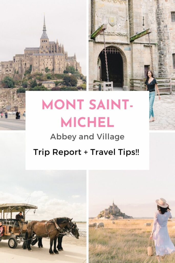 Mont St Michel Abbey and island collage