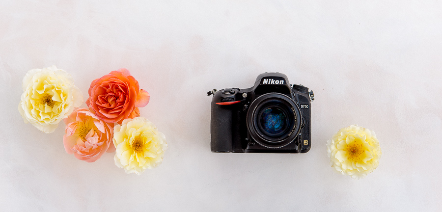 Nikon D750 with flowers
