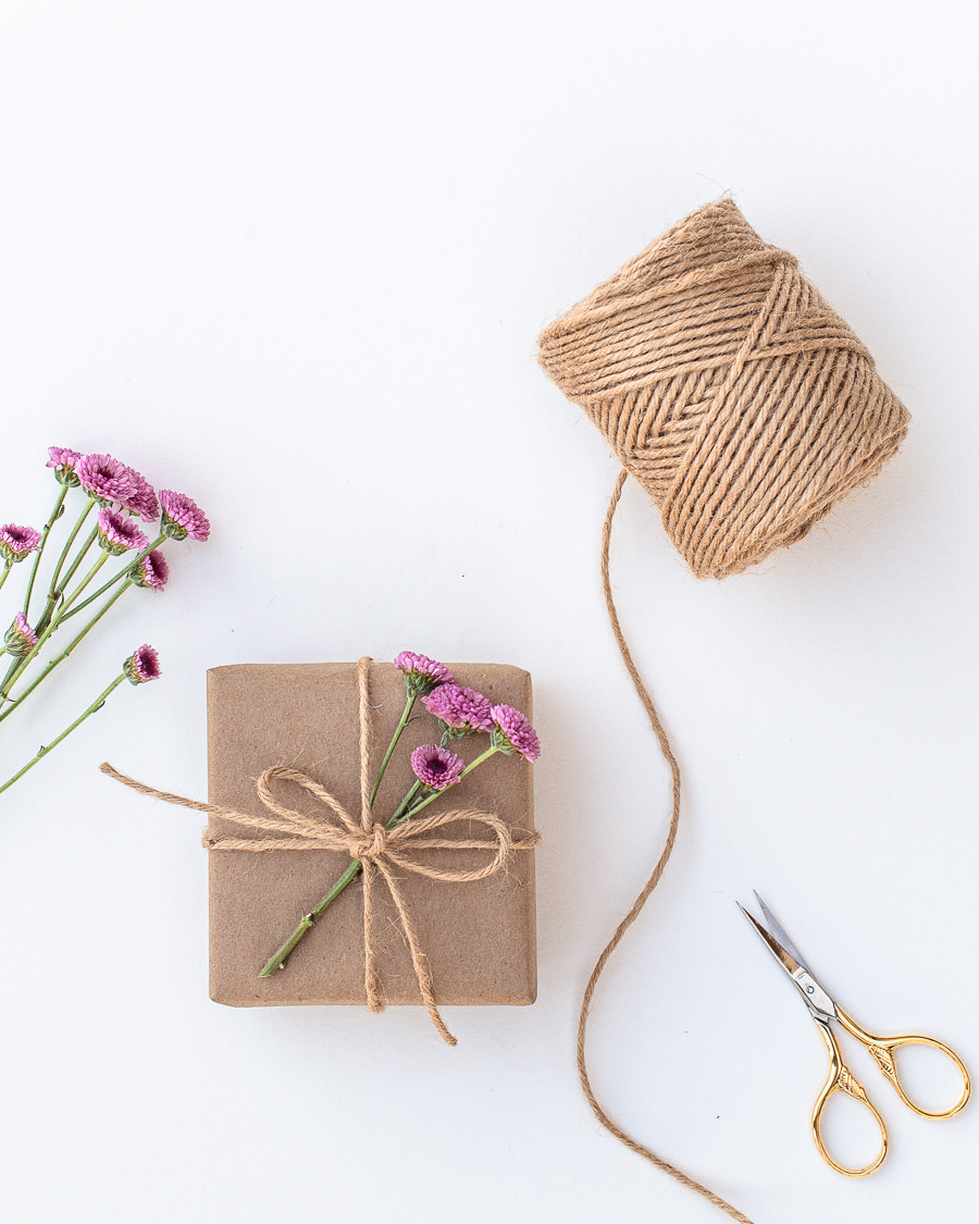 Gift Wrapping with Flowers & Leaves