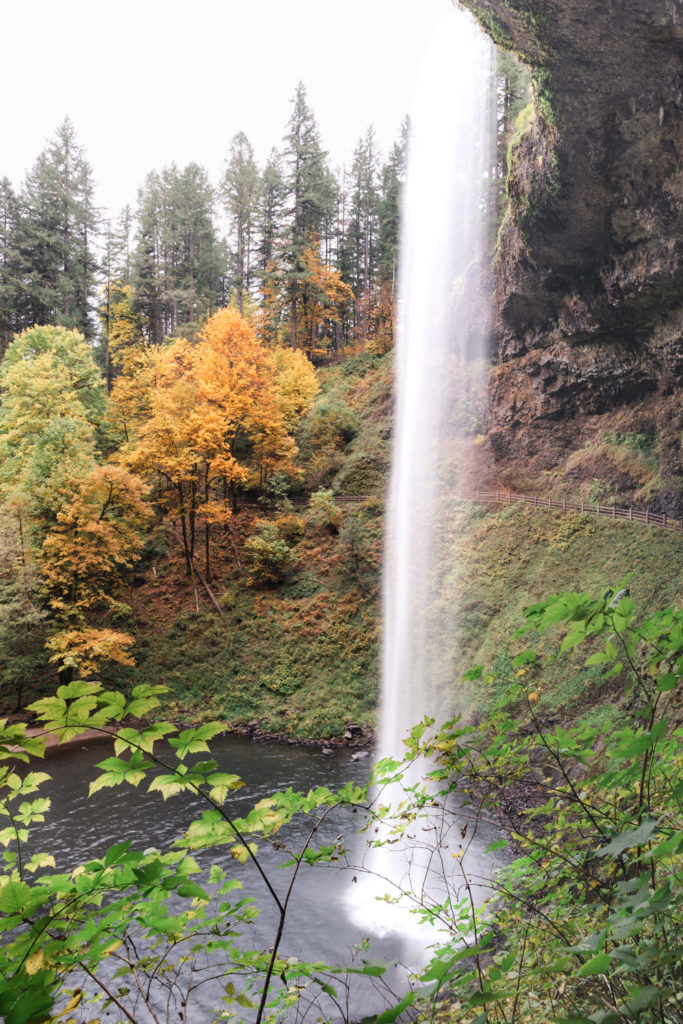 The South Falls Waterfall of the Trail of Ten Falls in Silver Lakes State Park in Oregon