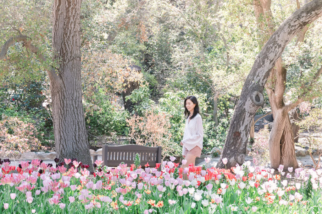Descanso Gardens in L.A. has beautiful Spring blooms including tulips and magnolias! Perfect for flower lovers and photographers!
