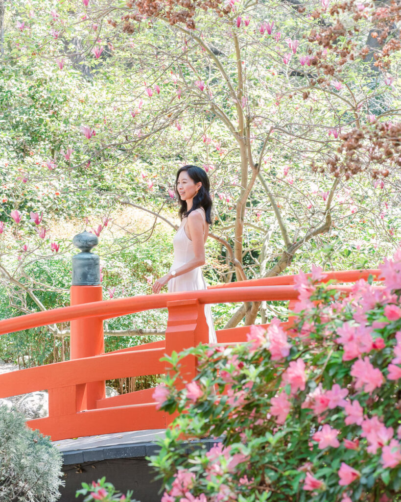 The Japanese Garden at Descanso Gardens in L.A. This garden has beautiful Spring blooms including tulips and magnolias! Perfect for flower lovers and photographers!