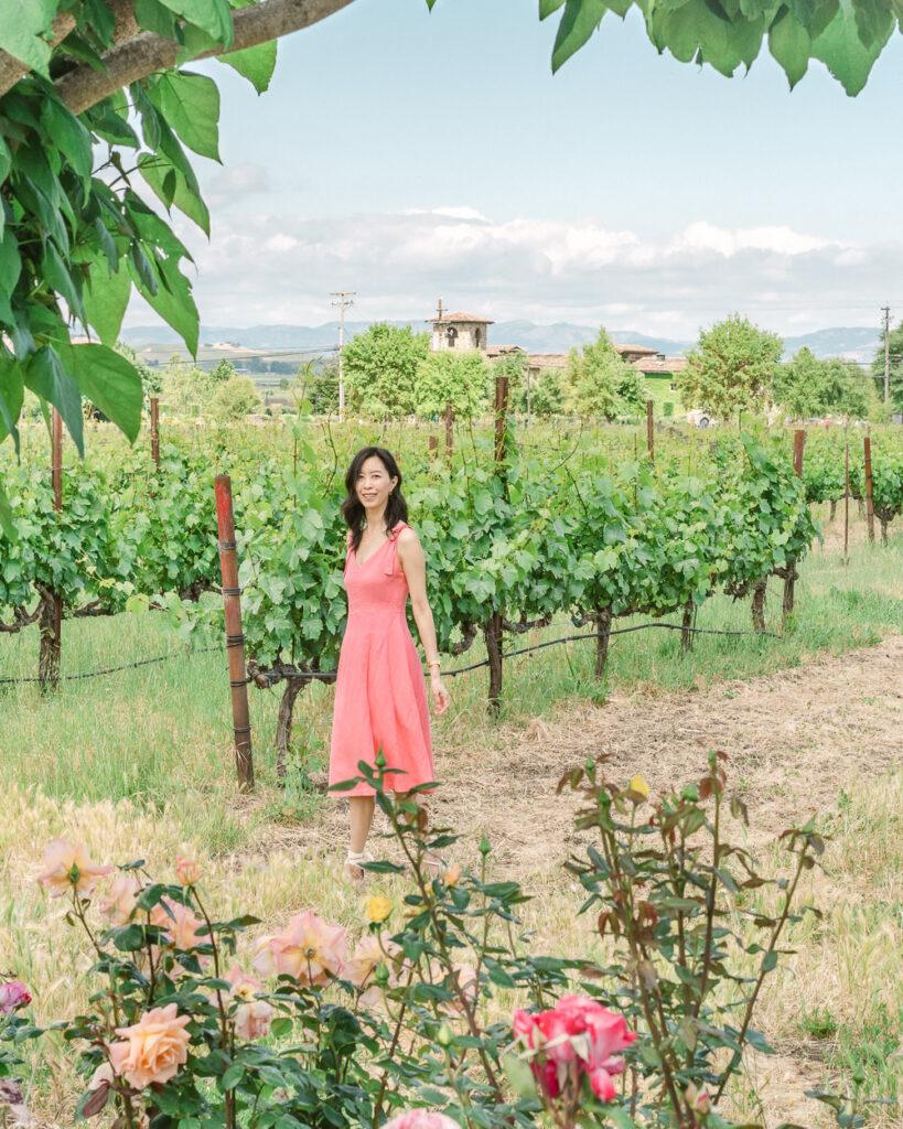 Sonoma Vineyard with Beautiful Garden