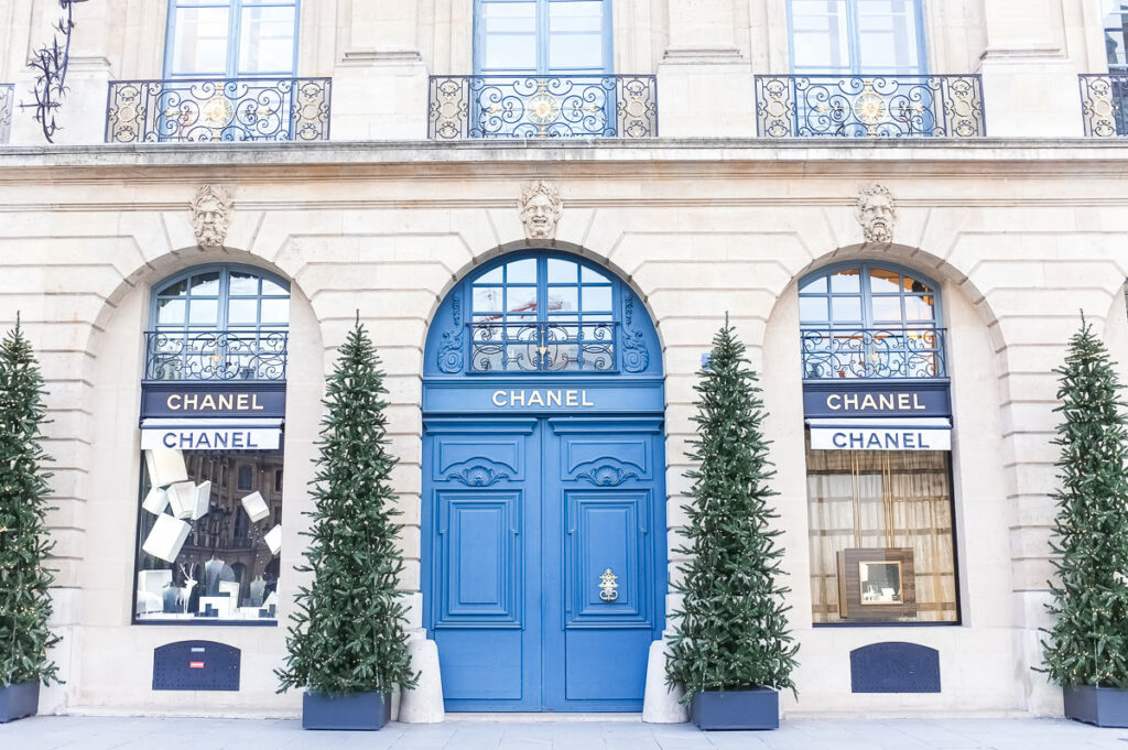 Store decorations in Paris -The Best Things About Christmas in Paris France
