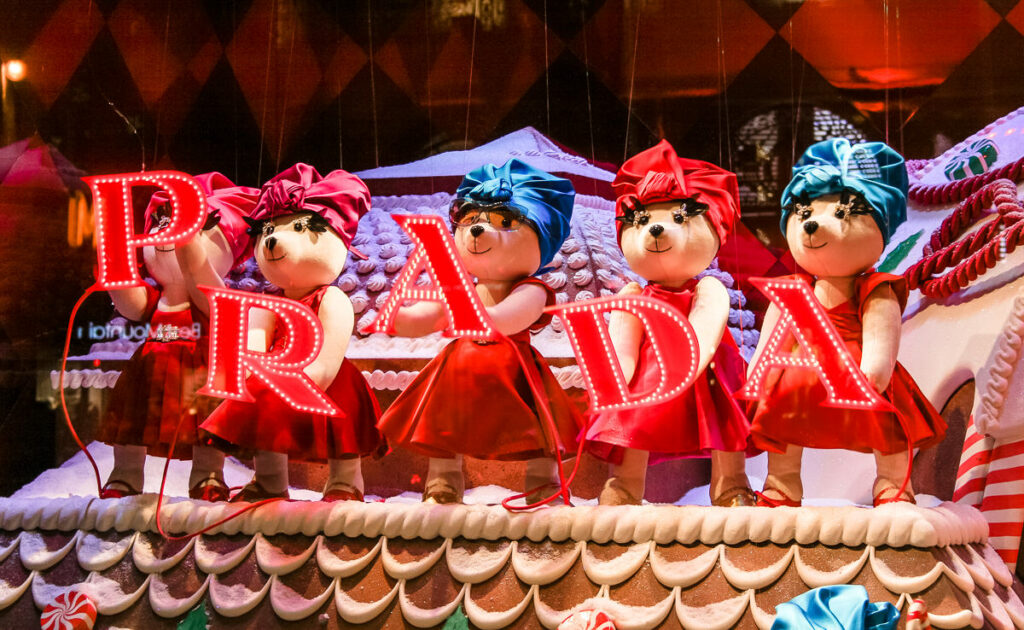 Christmas themed store window displays - The Best Things About Christmas in Paris France