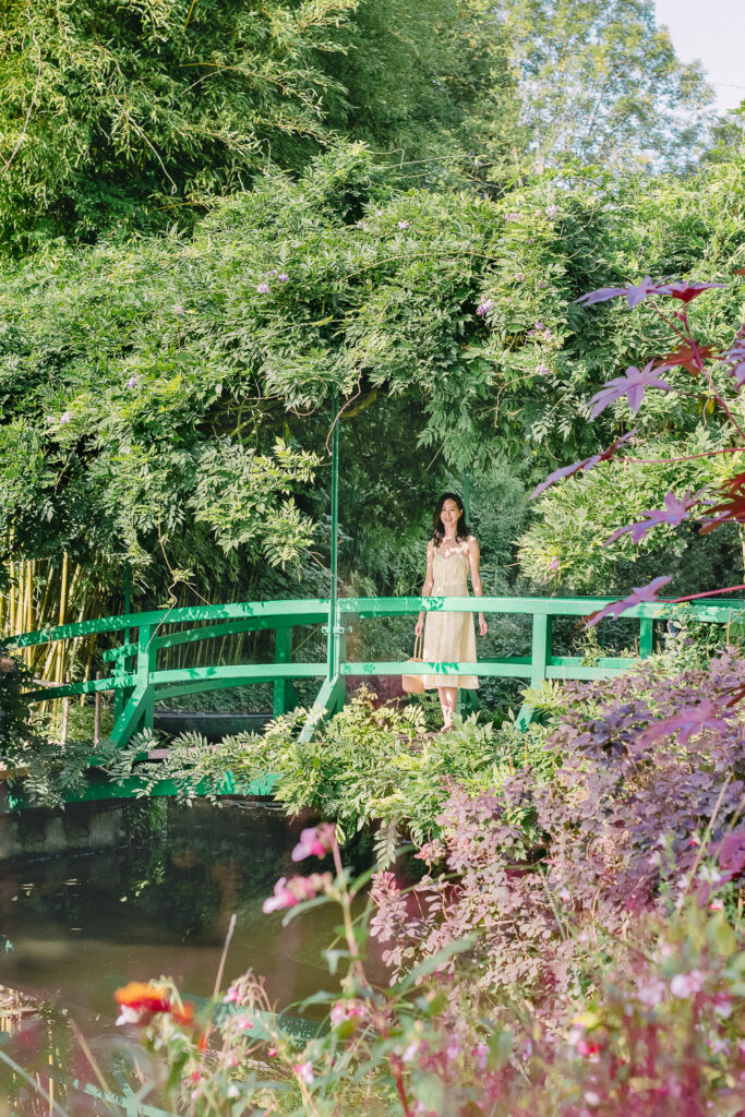 Japanese Garden and Bridge n Monet's Garden in Giverny France
