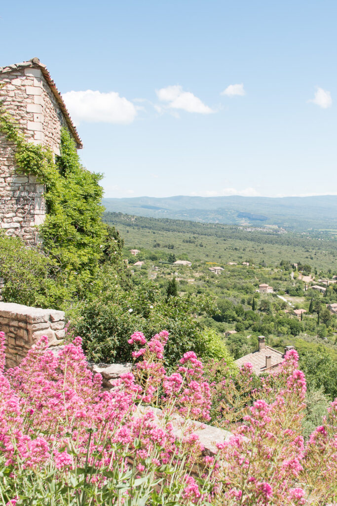 Springtime in Provence in the South of France. Sweeping Views from Gordes.
