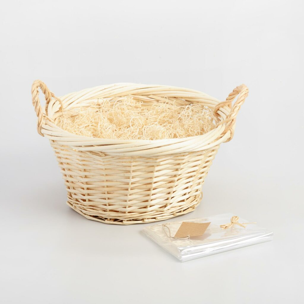 Cost Plus Round Natural Gift Basket Kit