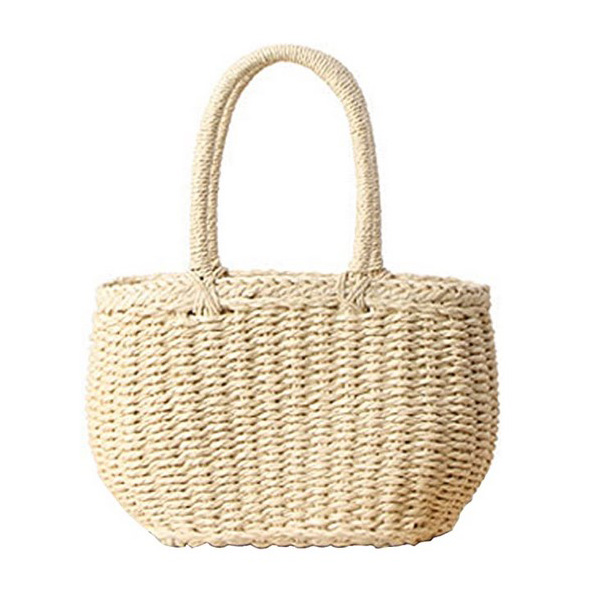 Straw tote bag for Mother's Day