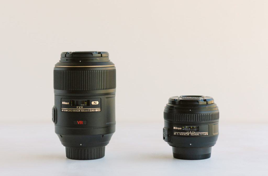 Nikon 105mm and 50mm lens