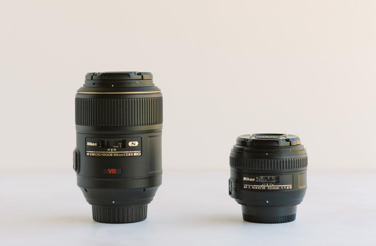 Nikon 105mm and 50mm lens