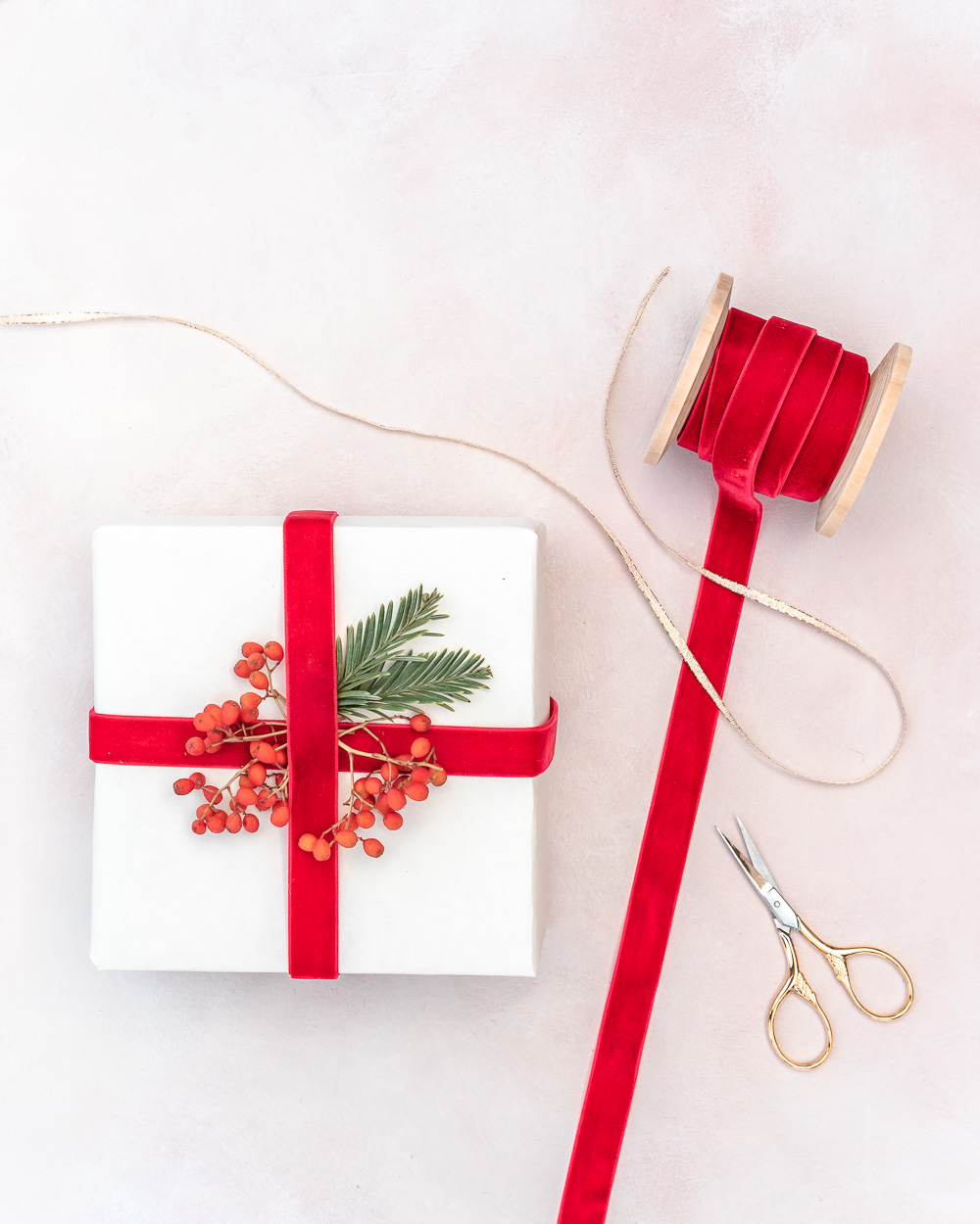 Eco-friendly gift wrapping with reusable ribbon