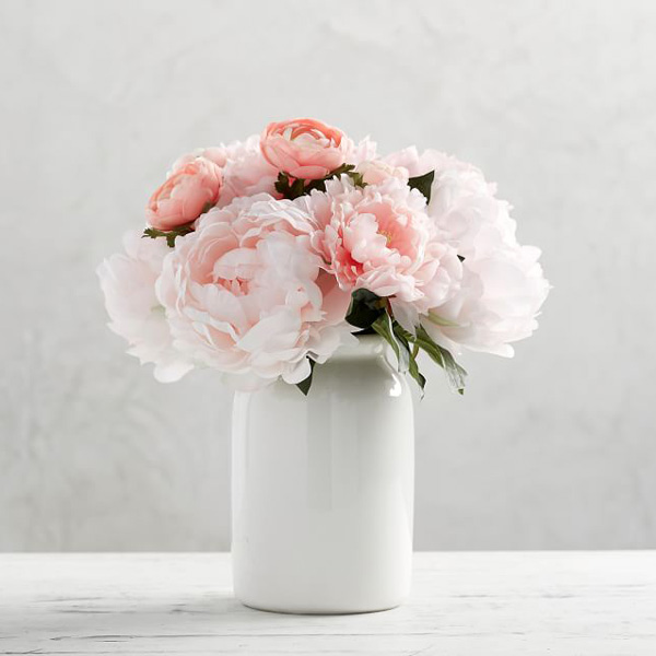 Gifts for flower lovers - pretty pink flowers in vase