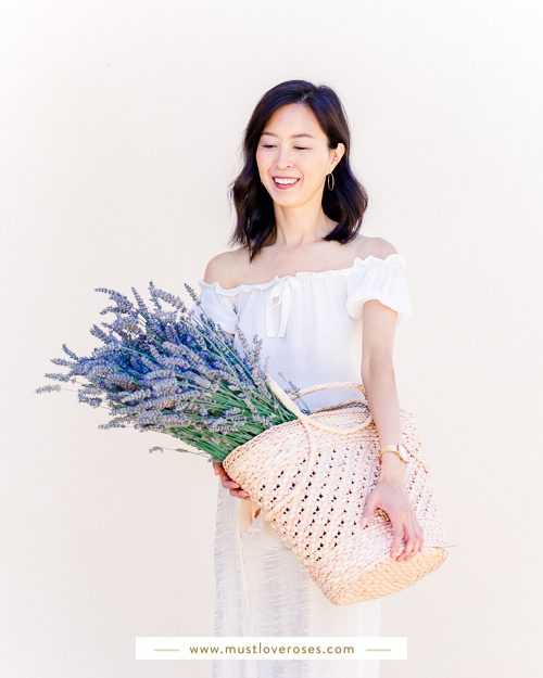 Holding basket of lavender - How to Harvest and Dry Lavender