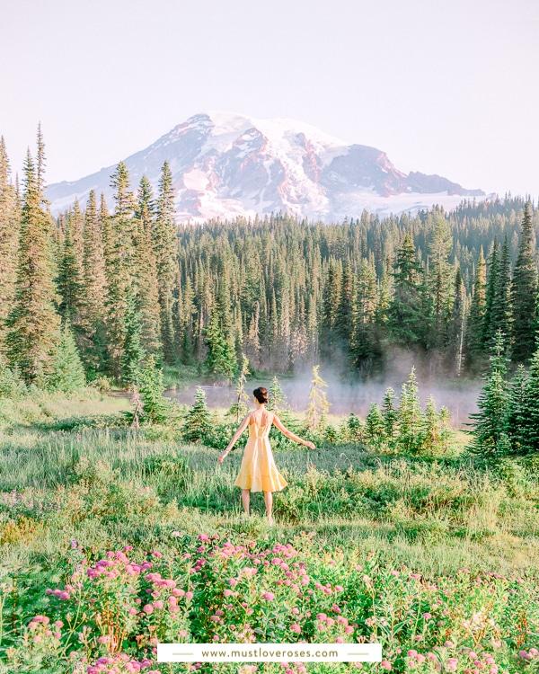 Reflection Lakes at Mount Rainier National Park