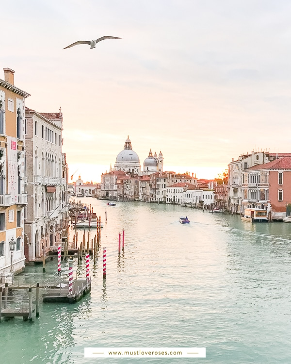 Sunrise over the Grand Canal in Venice Italy during Honeymoon